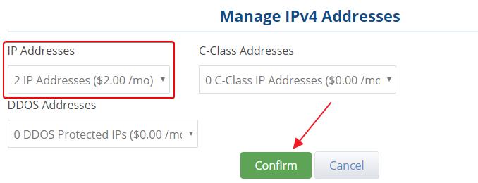 更换主IP地址