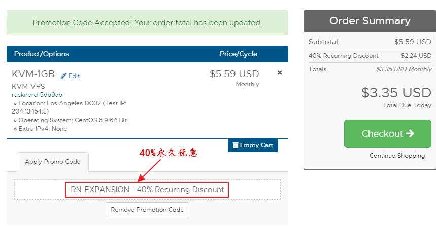 RackNerd推出40%优惠码