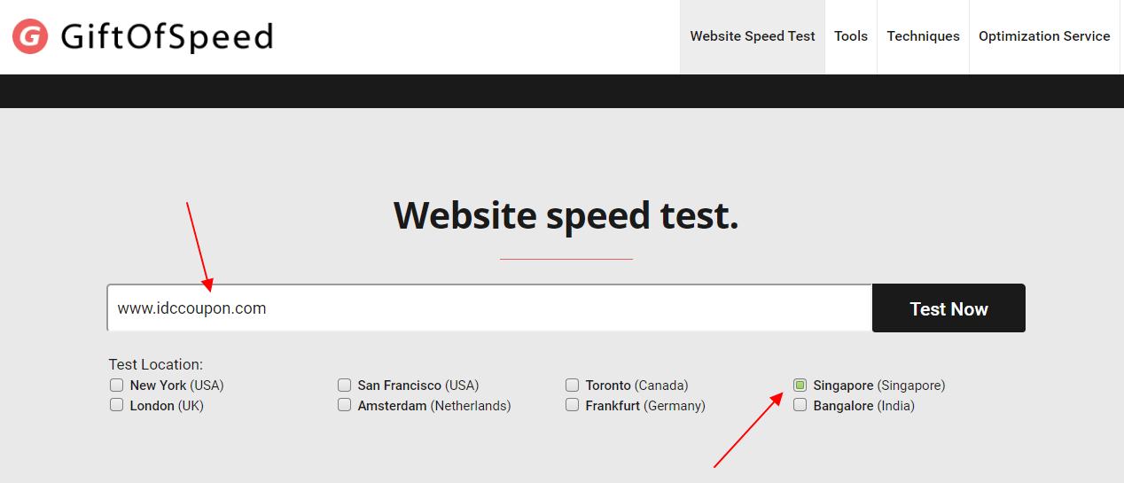 GiftofSpeed网站测试工具