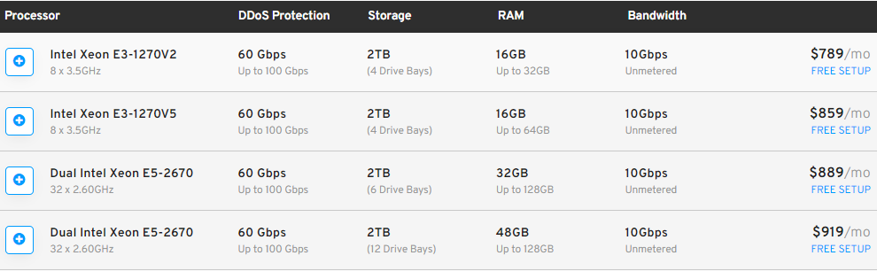 10gbps大带宽服务器方案配置