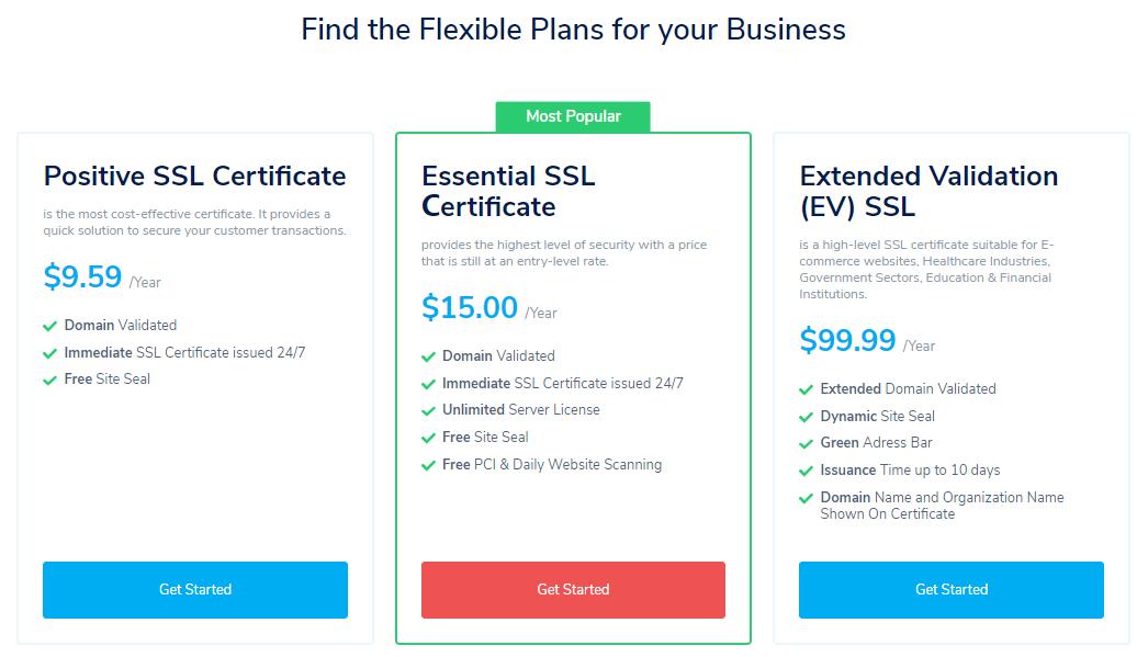 SSL正式种类