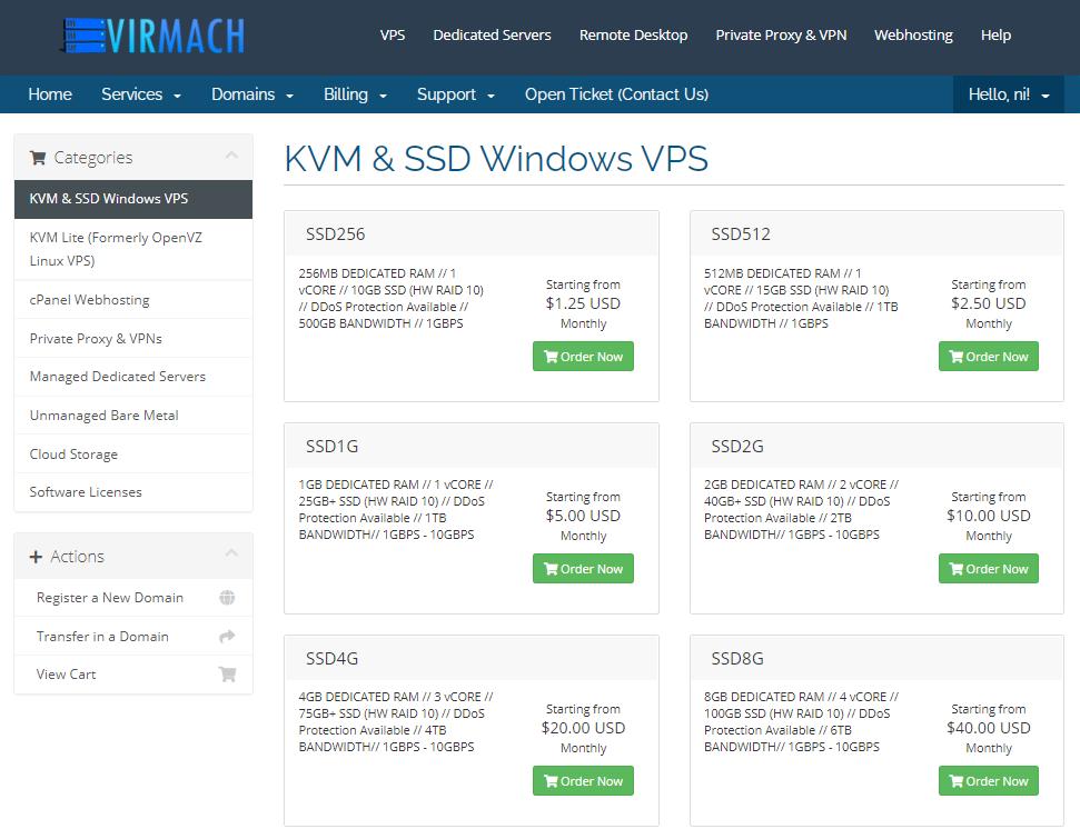 VirMach vps方案