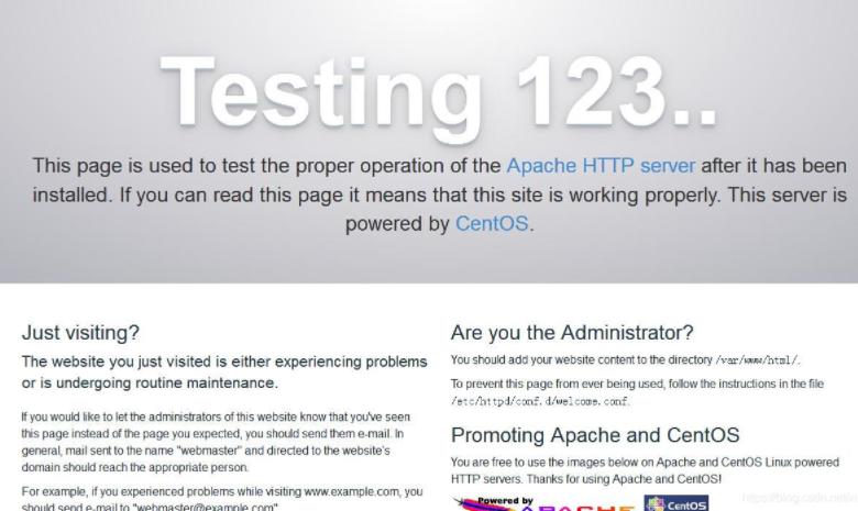 Apache环境测试
