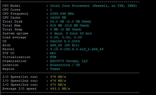 Vultr云服务器方案硬件配置