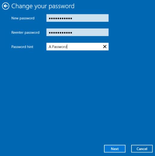 设置新密码