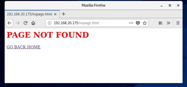 错误页面配置