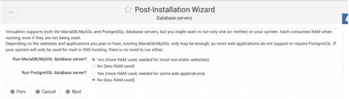 启用MariaDB数据库
