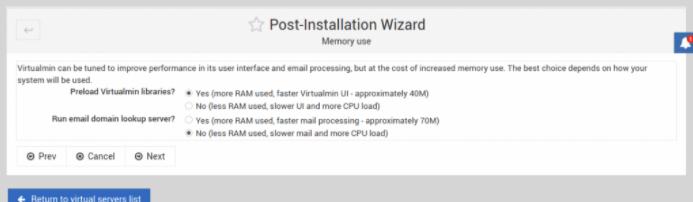 允许预加载Virtualmin库
