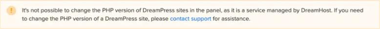 DreamHost PHP限制
