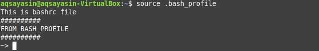 使用source命令