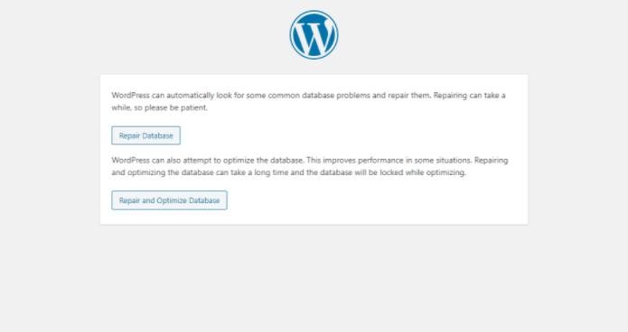 WordPress修复页面