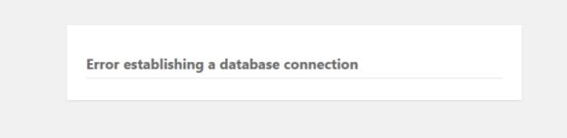 Error Establishing a Database Connection错误