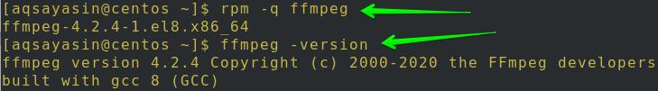 FFmpeg安装成功