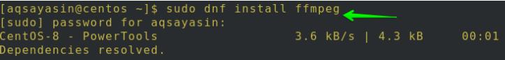 DNF命令安装FFmpeg