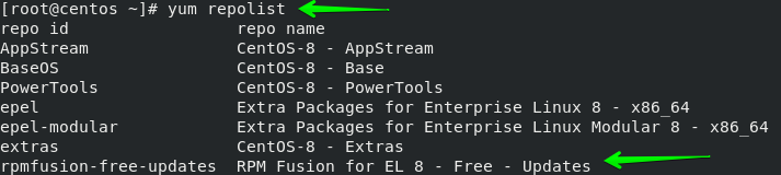 RPM Fusion存储库安装成功