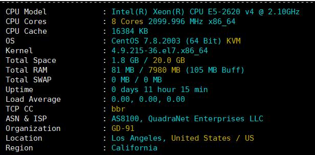 CPU基本配置情况