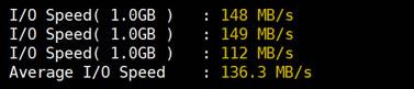 I/O读写速度情况测试