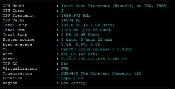 CPU和内存硬件配置测试