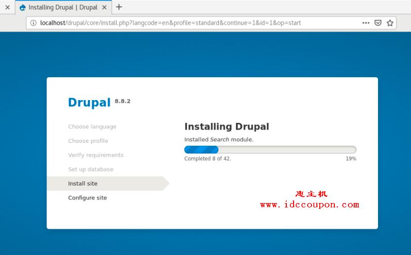 在CentOS 8上进行Drupal安装