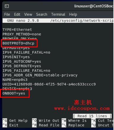 更改网络接口文件
