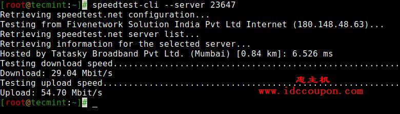 针对服务器测试Linux互联网速度