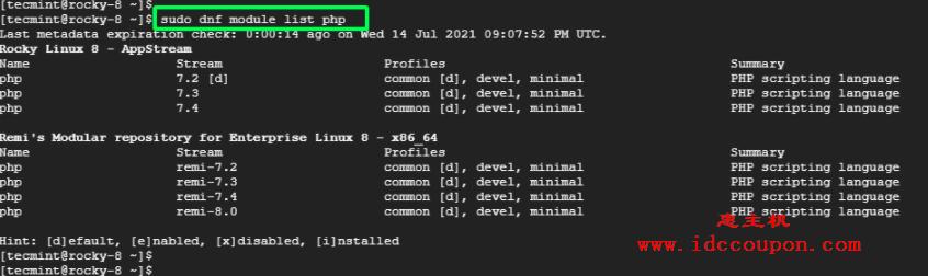 列出PHP模块