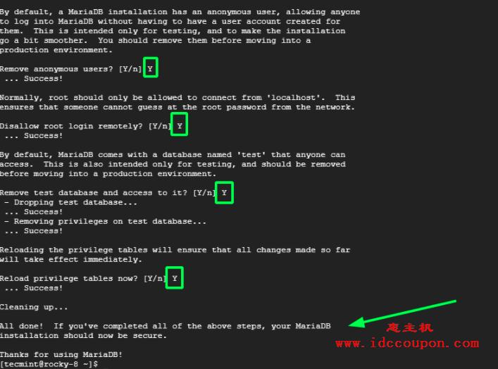 安全的安装MariaDB