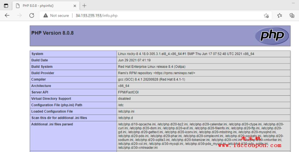 检查 PHP 信息