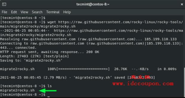 下载 Rocky Linux 迁移脚本