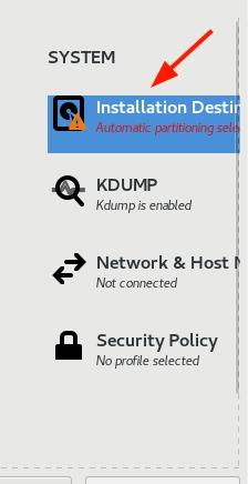 Rocky Linux 安装目标