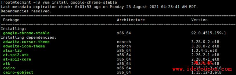 在基于 RedHat 的 Linux 发行版中安装 Google Chrome