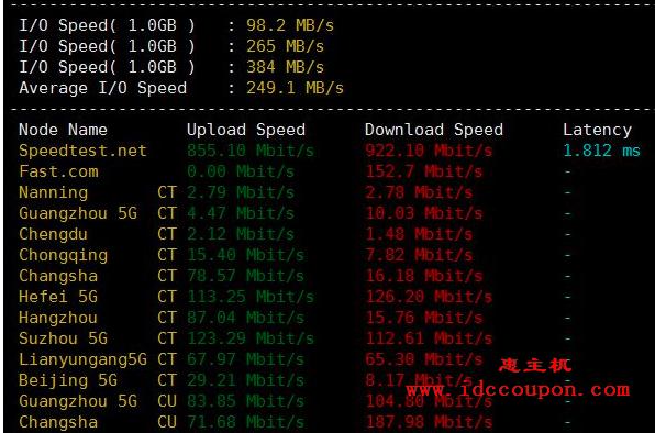 RackNerd VPS I/O读写和下载速度测试