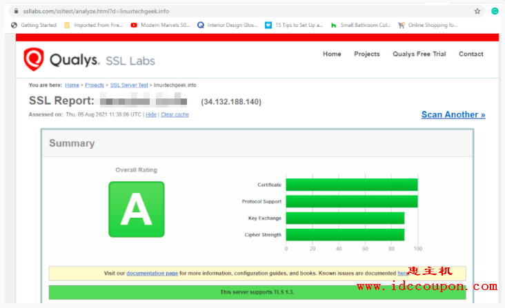 检查 SSL 证书评级