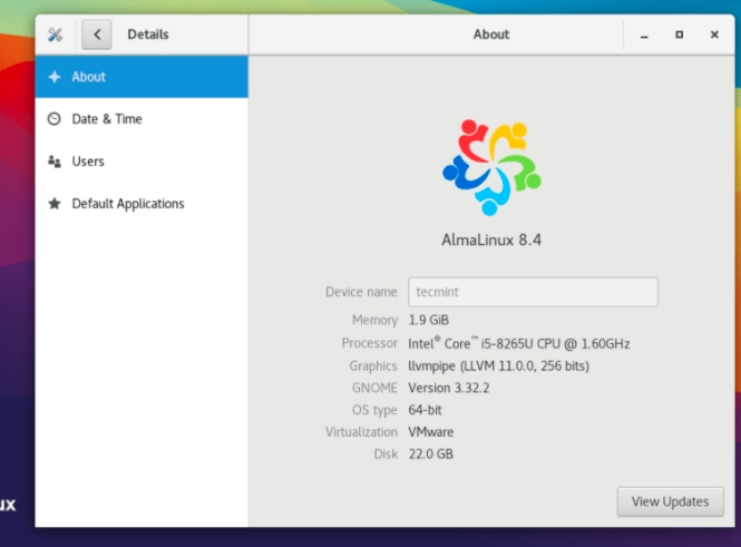 AlmaLinux桌面