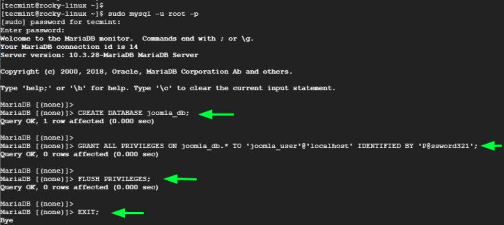 创建Joomla数据库