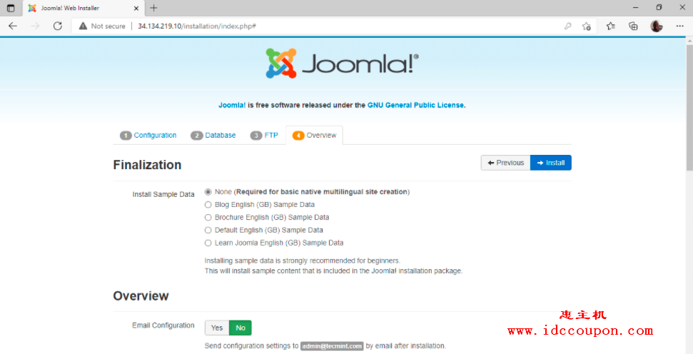 Joomla安装