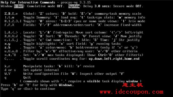 Linux Top 命令帮助