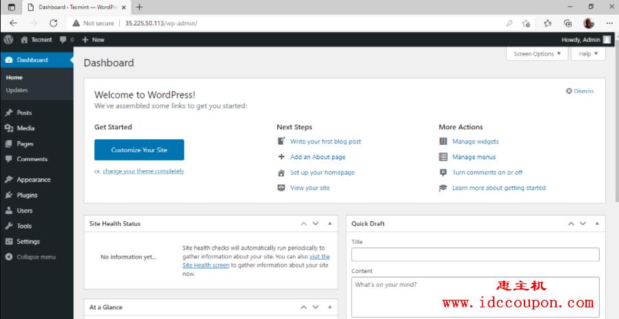 WordPress后台管理面板