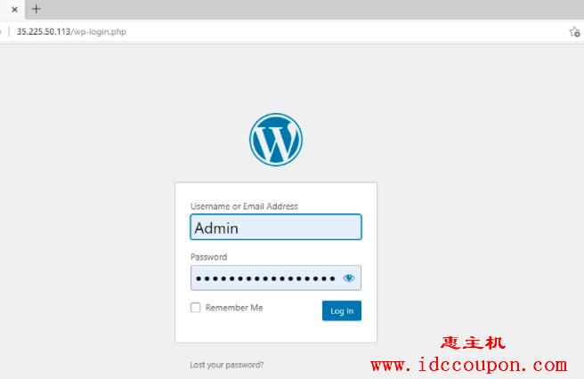 WordPress管理员登录