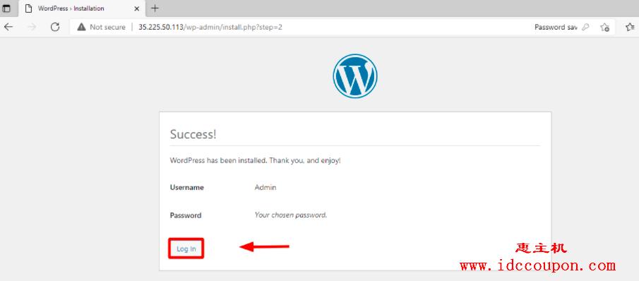 登录WordPress
