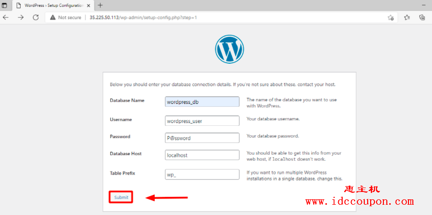 WordPress 数据库详细信息