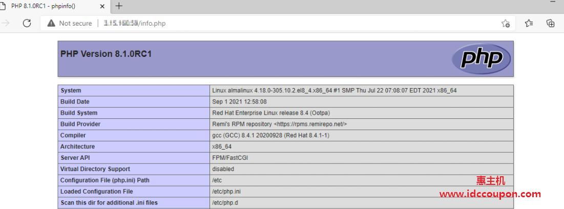 在 AlmaLinux 中检查 PHP 信息