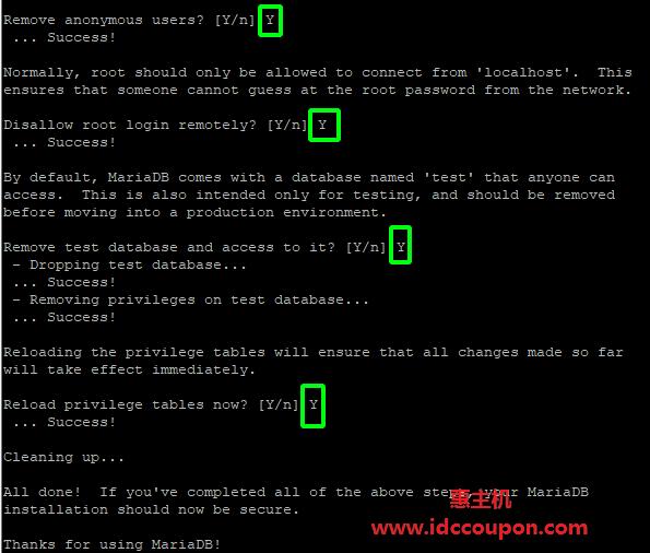 在 AlmaLinux 中保护 MariaDB